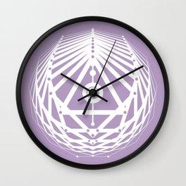 Radiant Abundance (lavender-white) Wall Clock