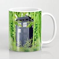 tardis Mugs featuring Tardis by tanduksapi