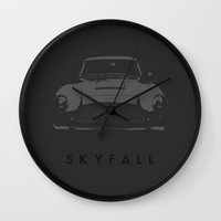 skyfall Wall Clocks featuring SKYFALL by WMDesigns