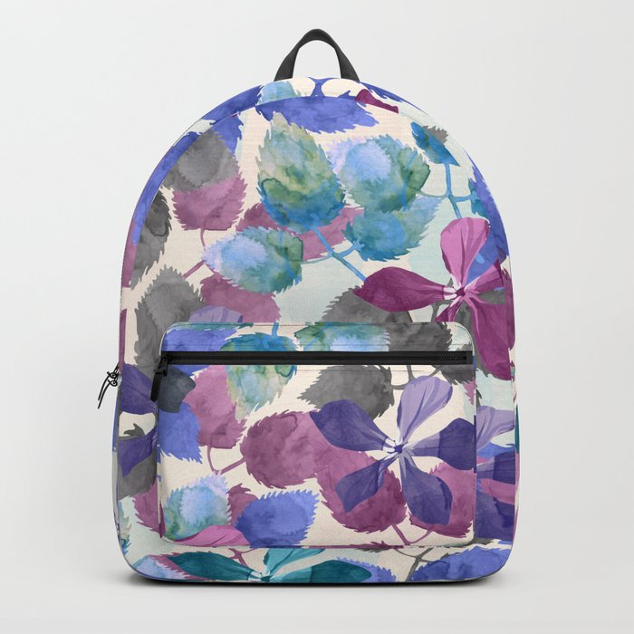 watercolor Botanical garden II Backpack
