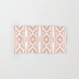 Velvety Tribal Shield Reverse in Apricot Hand & Bath Towel