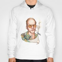 hunter s thompson Hoodies featuring Hunter S Thompson - Quote by Sally Ridge