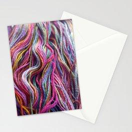 Colorful Handspun Yarn Magenta Stationery Cards