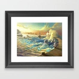 on shore of the sky Framed Art Print
