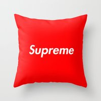 supreme Throw Pillows featuring Supreme by Harry Martin