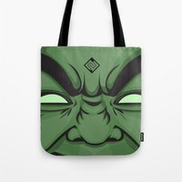 hulk Tote Bags featuring Hulk by illustrationsbynina