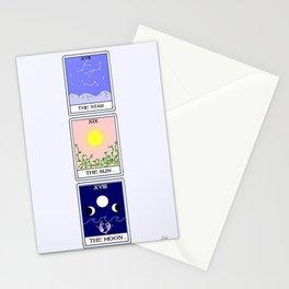 Trio of Tarot Stationery Cards