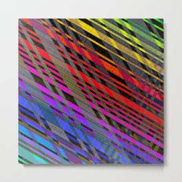 broken stripes Metal Print