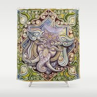 ganesh Shower Curtains featuring Ganesh by Keith Prossick