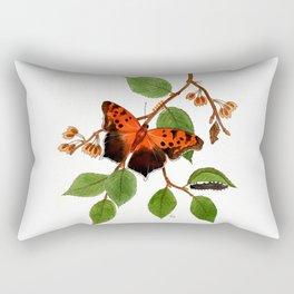 Questionmark Butterfly Rectangular Pillow