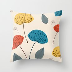 Dandelions in the wind Throw Pillow