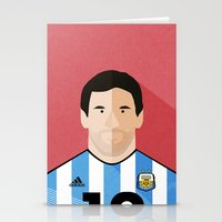 messi Stationery Cards featuring Messi by Mohammed Albassami