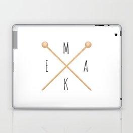 MAKE     Knitting Needles Laptop & iPad Skin