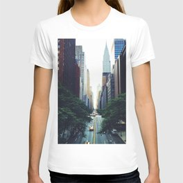 New York City Street Skyscapers Travel Wanderlust #tapestry T-shirt