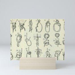 Vintage Knots Chart Mini Art Print