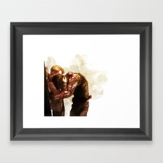 To the End of the Line Framed Art Print