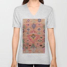Moroccan Berber Traditional Carpet Unisex V-Neck