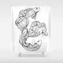 Betta Fish Shower Curtain
