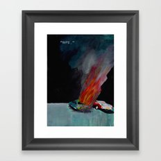 """"""".. Nearly three quarters of accidental car fires are due to vehicle defects."""" Framed Art Print"""