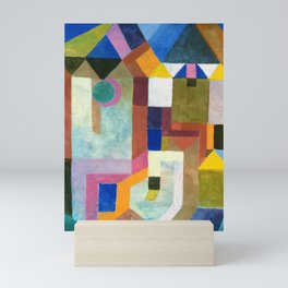 12,000pixel-500dpi - Paul Klee - Digital Remastered Edition - Colorful Architecture Mini Art Print