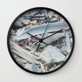 He will cover you with His feathers. Wall Clock