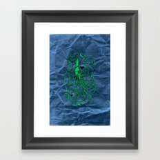 Love Squid with Paper Bag Framed Art Print