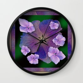 LACECAP HYDRANGEA FLOWER BOUQUET  Wall Clock