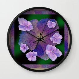 LACECAP HYDRANGEA FLOWER BOUQUET  Wall Clock
