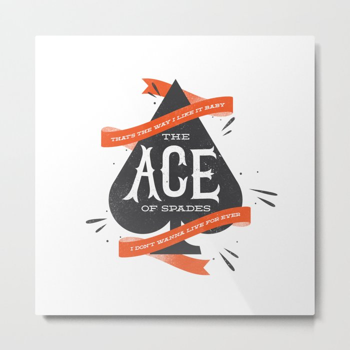 The Ace of Spades Metal Print