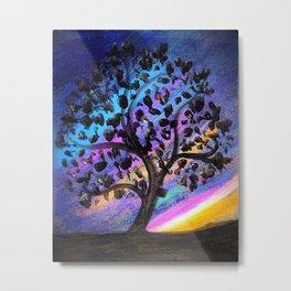 Aurora Tree Metal Print