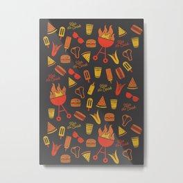 Kiss the Cook - Dark Palette Metal Print