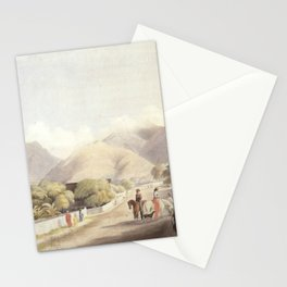 Vintage village ilustration shower curtain - Bathroom art - Bohemian - Home decor - Bathroom Sets - Gift - Bath Mat - Art Bath Stationery Cards