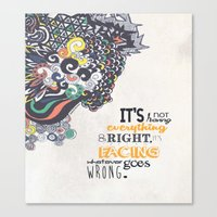 motivational Canvas Prints featuring Quote - Motivational  by Katie Melrose