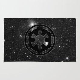 Imperial Cog on Stars with White Outline, Galactic Empire, Dark Side Rug
