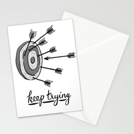 Keep Trying Stationery Cards