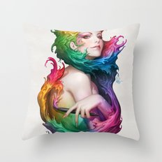 Angel of Colors Throw Pillow