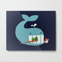 Brush Your Teeth Metal Print
