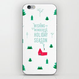 Holiday wishes — Little shack in the woods iPhone Skin