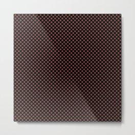 Black and Henna Polka Dots Metal Print