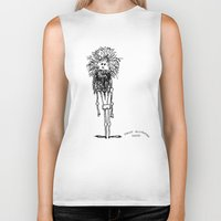 sasquatch Biker Tanks featuring SASQUATCH by Maddy Ellwanger