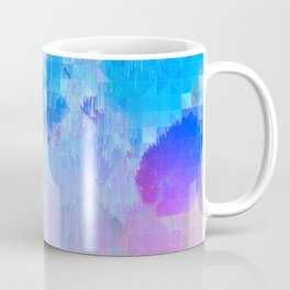 Abstract Candy Glitch - Pink, Blue and Ultra violet #abstractart #glitch Coffee Mug