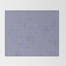Goofy Skull Lilac Throw Blanket