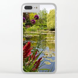 Summer Water Garden Clear iPhone Case
