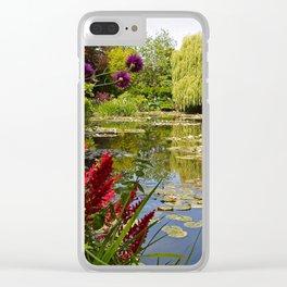 Summer Water Garden Clear iPhone Case