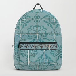 Victorian Turquoise Ceramic Tiles Backpack