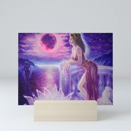 Mnasidika in Lydia missing Atthis and Sappho and the isle of Lesbos Mini Art Print