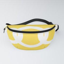 White Circles Yellow Background #decor #society6 #buyart Fanny Pack