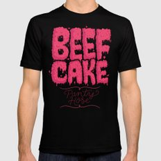 Beef Cake Mens Fitted Tee Black X-LARGE