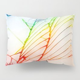 Rainbow Broken Damaged Cracked out back White iphone Pillow Sham