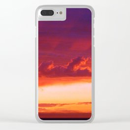 Clouds and Shadows Clear iPhone Case